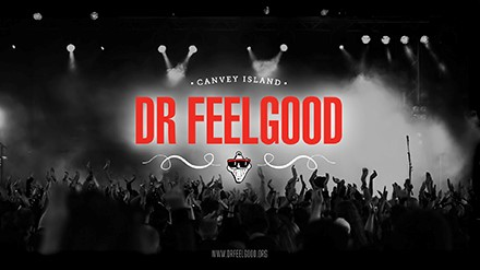 Doctor Feelgood logo and crowd